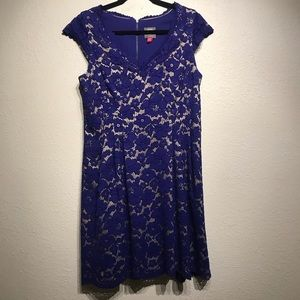 Vince Camuto Blue Lace Cocktail Dress